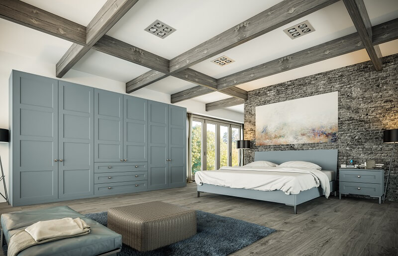 DESIGNER BEDROOMS MOTTINGHAM-BELLA MATT DENIM -ALDRIDGE BEDROOM RANGE