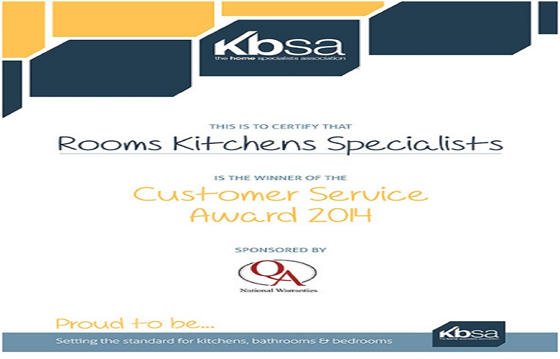 KBSA Excellence Award Winners Certificate
