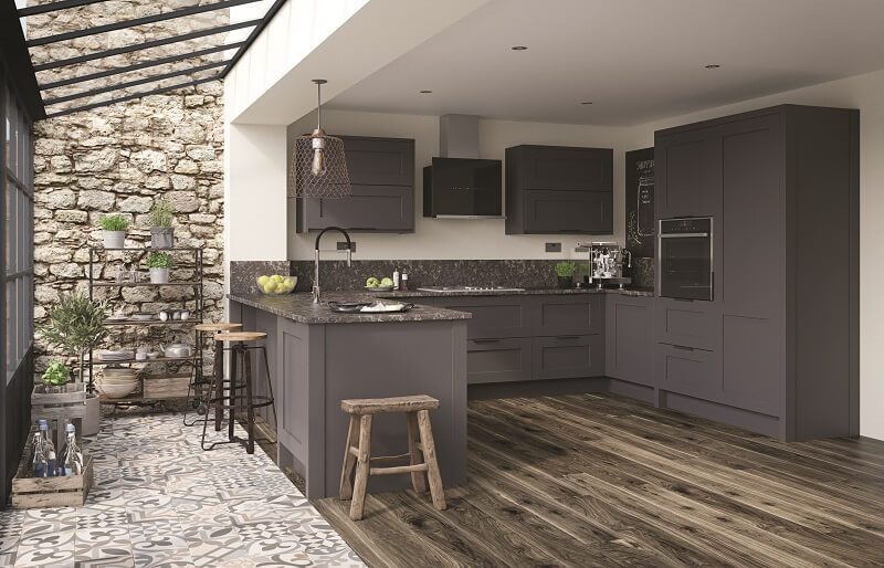Rooms Services -Mornington Shaker Graphite Kitchen